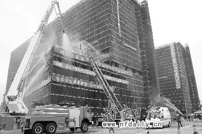 建筑工地消防演习