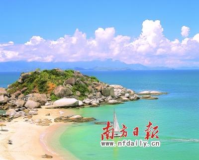 围绕着丰富的山水旅游资源,惠州旅游业发展迅猛,图为风景旖旎三角洲岛