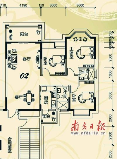 3平方米     维港半岛新品9.5折最后召集     户型推介:3号楼01户型.