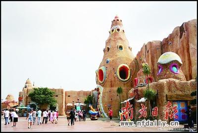 东部华侨城的其中一主题公园大侠谷是你深入丛林冒险探秘的首选.
