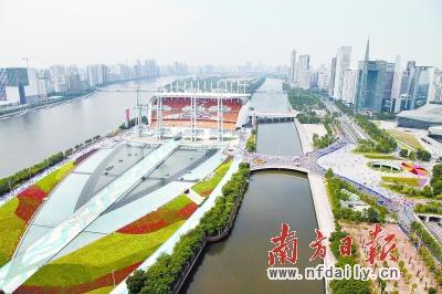 园林要进行人性化设计     根据改造方案,海心沙中区将作为亚运公园