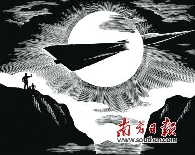 中国结黑白矢量图变形
