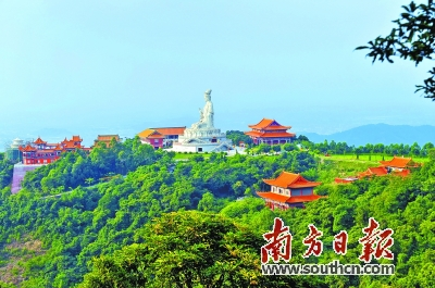 国庆长假期间,位于东莞樟木头的观音山国家森林公园吸引了近十万