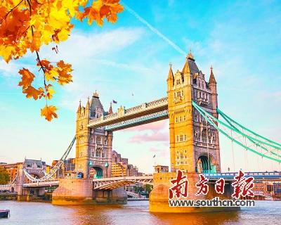 著名的地标建筑伦敦塔桥