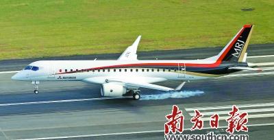 """日本首款喷气式""""大飞机""""试飞"""