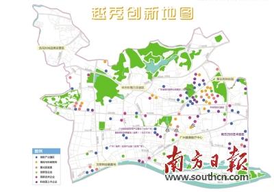 广州市越秀区创新企业有多少?越秀创新地图给你看.