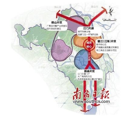 鹤山东部新城规划图
