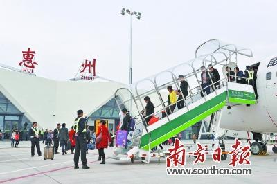 惠州机场2015年平均航班客座率达到71%