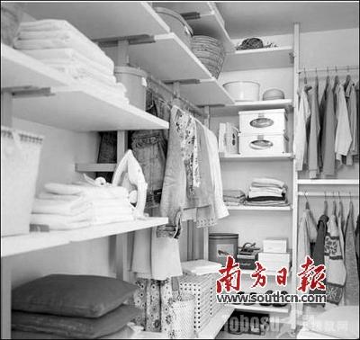 衣柜内部结构整理