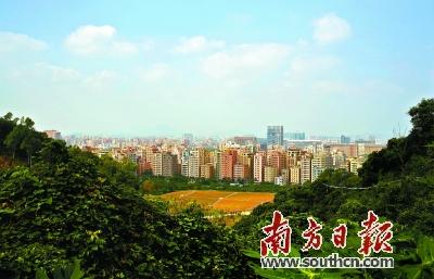 山水间的光明小镇将被打造成深圳旅游生态区.图为光明新区玉塘新貌.
