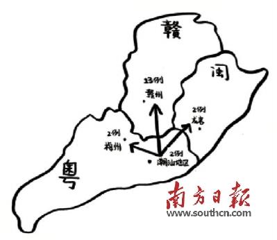汕头地图简笔画手绘