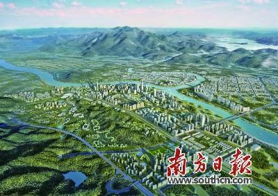 河源江东新区 谋划建设 高铁新城