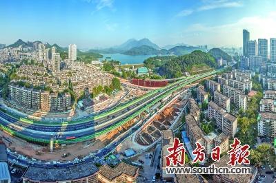 深圳市东部过境高速公路连接线工程施工全景.