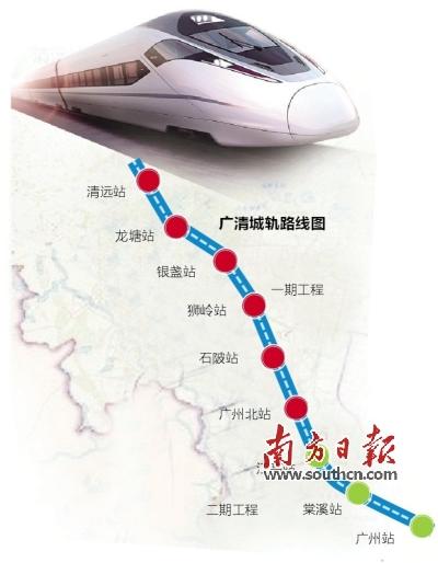 广清城轨项目二期有望明年动工 2022年建成