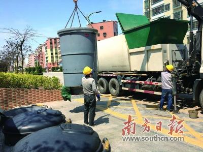佛冈县完成4立方米地下填埋式环保垃圾桶等环卫基础设施的安装并投