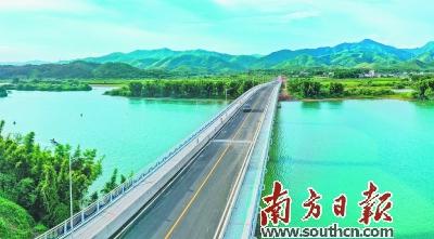 河源东源阮啸仙纪念大桥通车 正式告别靠渡船来往东江南北两岸历史
