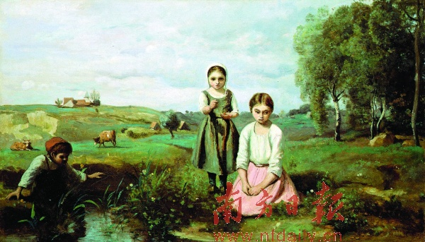 定价2000万元,由法国上世纪最著名风景画家柯罗创作的油画《河边