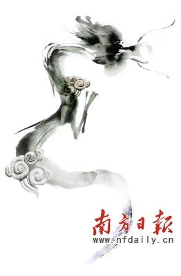 跆拳道水墨背景图素材