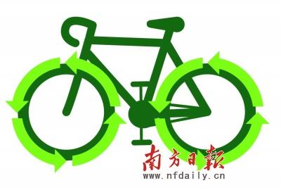 骑自行车 低碳 出游; 骑自行车卡通动图